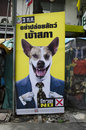 Thai Political Election Poster Stock Image