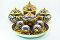 Thai porcelain pottery traditional luxury Royalty Free Stock Images
