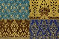 Thai print cloth texture Royalty Free Stock Image