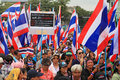 Thai protesters march to anti amnesty bill bangkok nov unidentified at ratchadamnoen road on nov in bangkok thailand it claims Stock Image