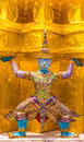 Thai raised wat phra kaew beautiful Stock Photo