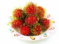 Thai rambutan one kind of fruit is name Stock Images