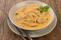 Thai red chicken curry kaeng phet Royalty Free Stock Photo