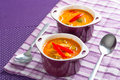 Thai red curry soup with chicken breast Stock Image