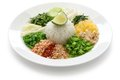 Thai rice salad khao yam cuisine Stock Photography