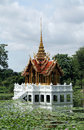 Thai royal castle amid of water Stock Photos