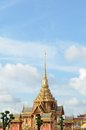 Thai royal funeral and Temple in bangkok thailand Royalty Free Stock Photos