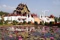 Thai royal pavilion (Ho Kum Luang) Stock Photos