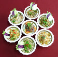 Thai salads food cuisine restaurant in thailand Royalty Free Stock Images