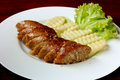 Thai sausage spicy with vegetable Royalty Free Stock Images