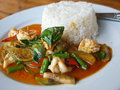 Thai seafood curry Stock Photos