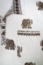 Thai shirt pattern and elephant thailand Stock Photos