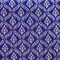 Thai silk blue pattern,Thailand textile style Royalty Free Stock Photo