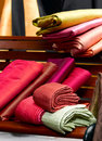 Thai silk cloths Stock Photos