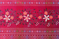 Thai silk red. Stock Photography