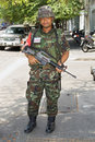 Thai soldier Stock Photo