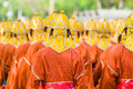 Thai soldiers in traditional uniforms Stock Photos