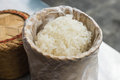 Thai sticky rice closeup in restaurant Royalty Free Stock Images