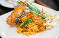 Thai stir-fried rice noodles Pad Thai Royalty Free Stock Photo