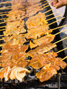 Thai style bbq Royalty Free Stock Photo