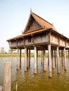 Thai style building ,ubonratchathani, Thailand Stock Photography