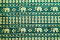 thai style elephant pattern silk textile Royalty Free Stock Photo
