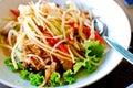 Thai style food , spicy papaya salad Royalty Free Stock Image