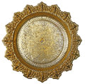 Thai style golden tray top view of Royalty Free Stock Photography