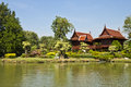 Thai style houses. Royalty Free Stock Photos