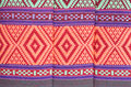 Thai style native textile Royalty Free Stock Photo