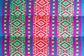 Thai style native textile Royalty Free Stock Photo