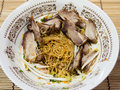 Thai style noodle with duck meat Royalty Free Stock Images