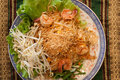 Thai style noodles pad Stock Image