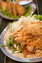 Thai style noodles pad Royalty Free Stock Image
