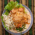 Thai style noodles pad Stock Images