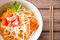 Thai style noodles pad thai cuisine Royalty Free Stock Images