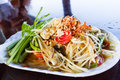 Thai style papaya salad spicy with fresh crab Royalty Free Stock Photo
