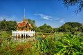 Thai style pavilion on the water at Rama 9 Garden