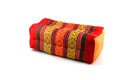 Thai style pillow handmade esan traditional on white background Stock Image