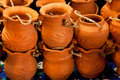Thai style potteries Royalty Free Stock Image