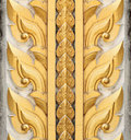 Thai style sculpture art on door Royalty Free Stock Images