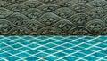 Thai style sea wave pattern Royalty Free Stock Photo