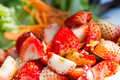 Thai style strawberry salad Stock Photography