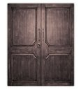 Thai style teakwood board door. Royalty Free Stock Photo