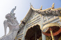 Thai style temple in northern thailand chiang mai Stock Photo