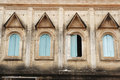 Thai style window of Buddhist sanctuary Stock Image