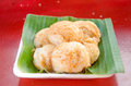 Thai sweetmeat there is a various type of this is call ka nom krok Stock Photography