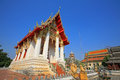 Thai temple architecture at wat thung si muang against blue sky in ubon ratchathani province thailand Stock Photography