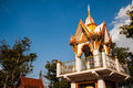 Thai temple bell tower and nice blue sky Stock Photography