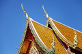 Thai temple in chiang mai details of a roof doi suthep Royalty Free Stock Photos